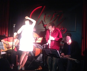 Lily in action at The Jazz Bistro!